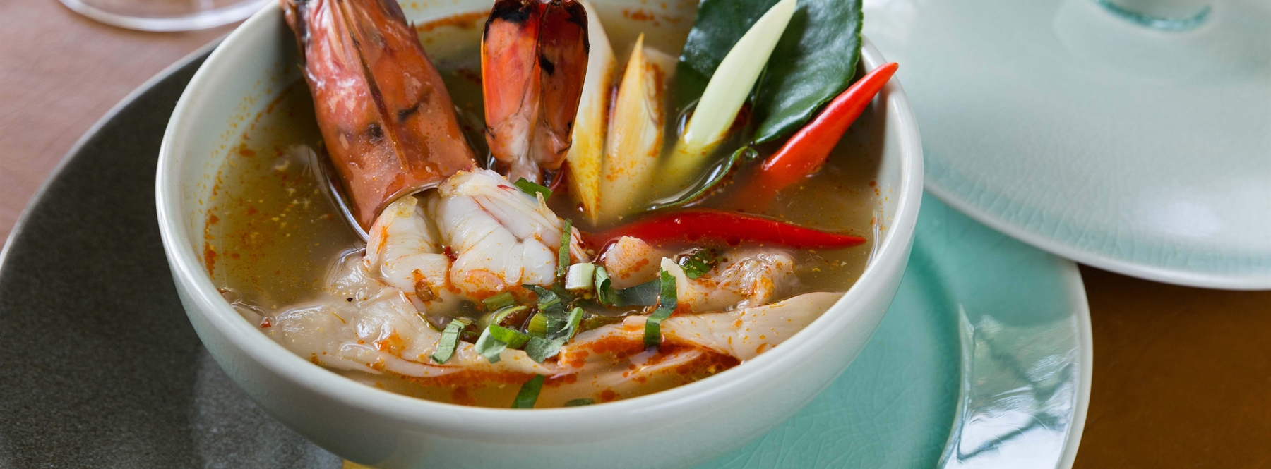 Spice Tom Yum Goong hot and sour tiger prawns