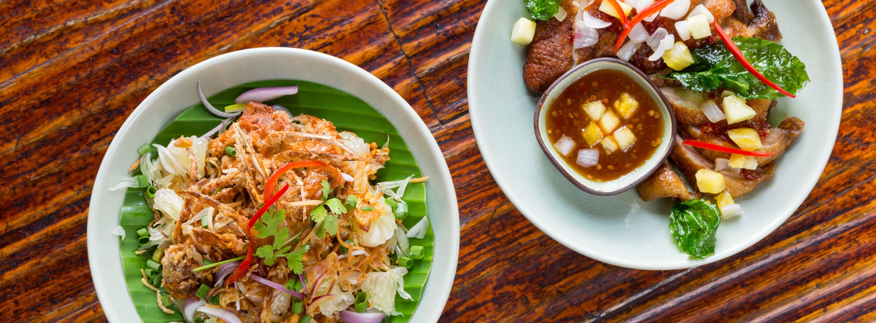Thai Pomelo Salad with crispy soft shell crab